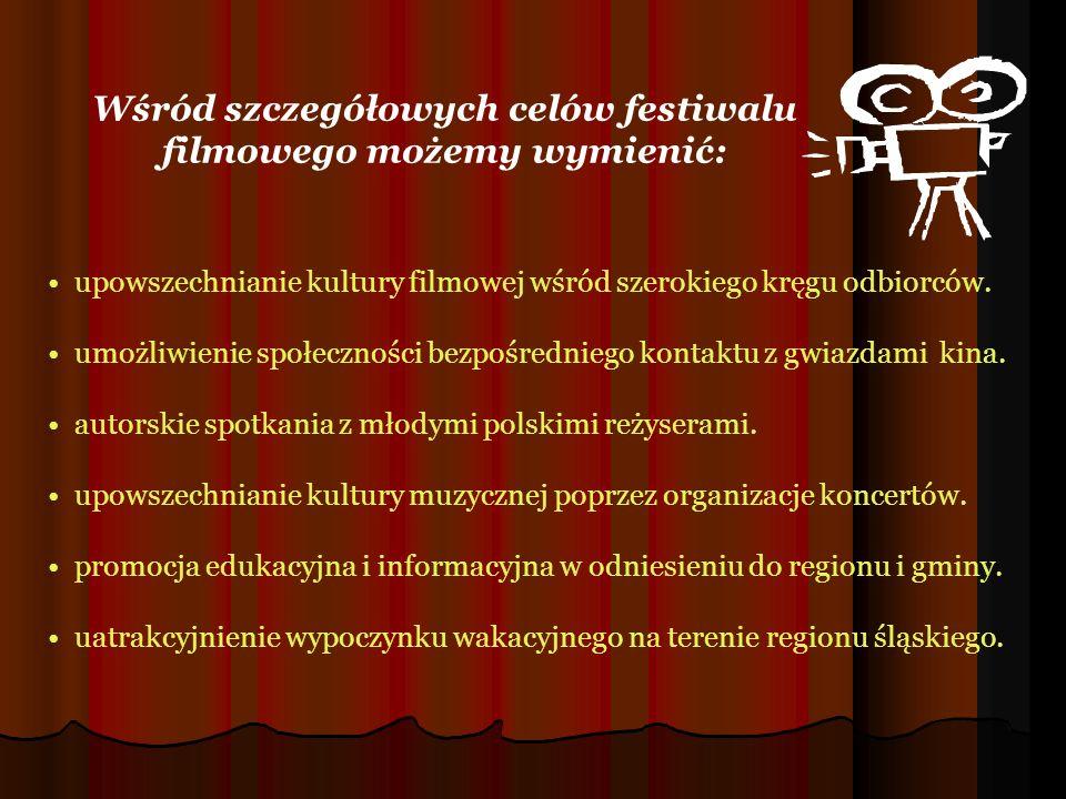 Wśród szczegółowych celów festiwalu filmowego możemy wymienić: