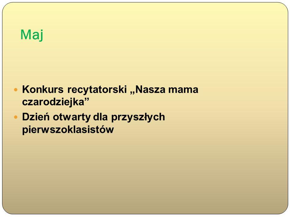 """Maj Konkurs recytatorski """"Nasza mama czarodziejka"""