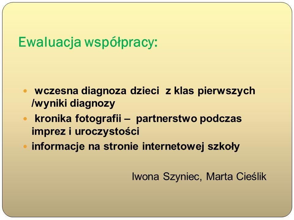 Ewaluacja współpracy: