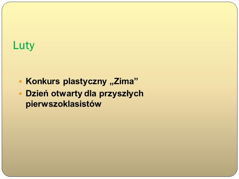 """Luty Konkurs plastyczny """"Zima"""