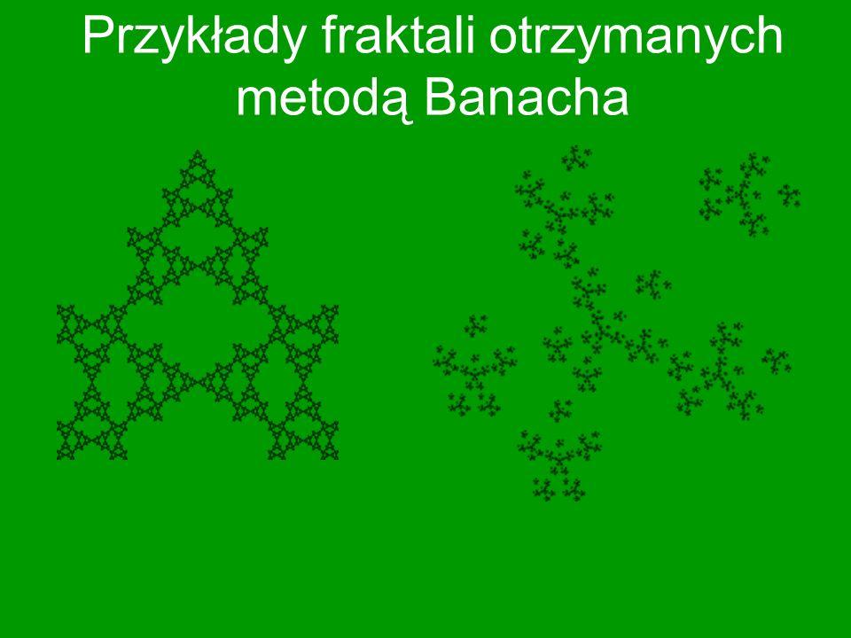Przykłady fraktali otrzymanych metodą Banacha