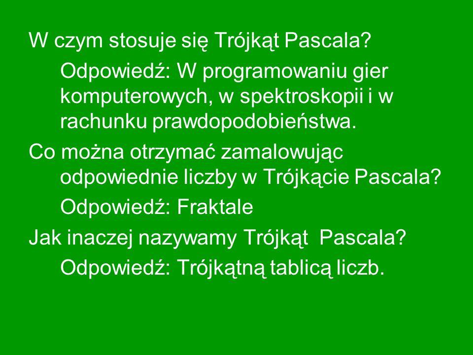 W czym stosuje się Trójkąt Pascala