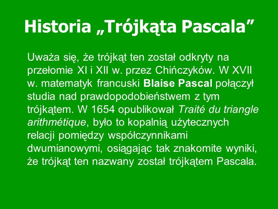 """Historia """"Trójkąta Pascala"""