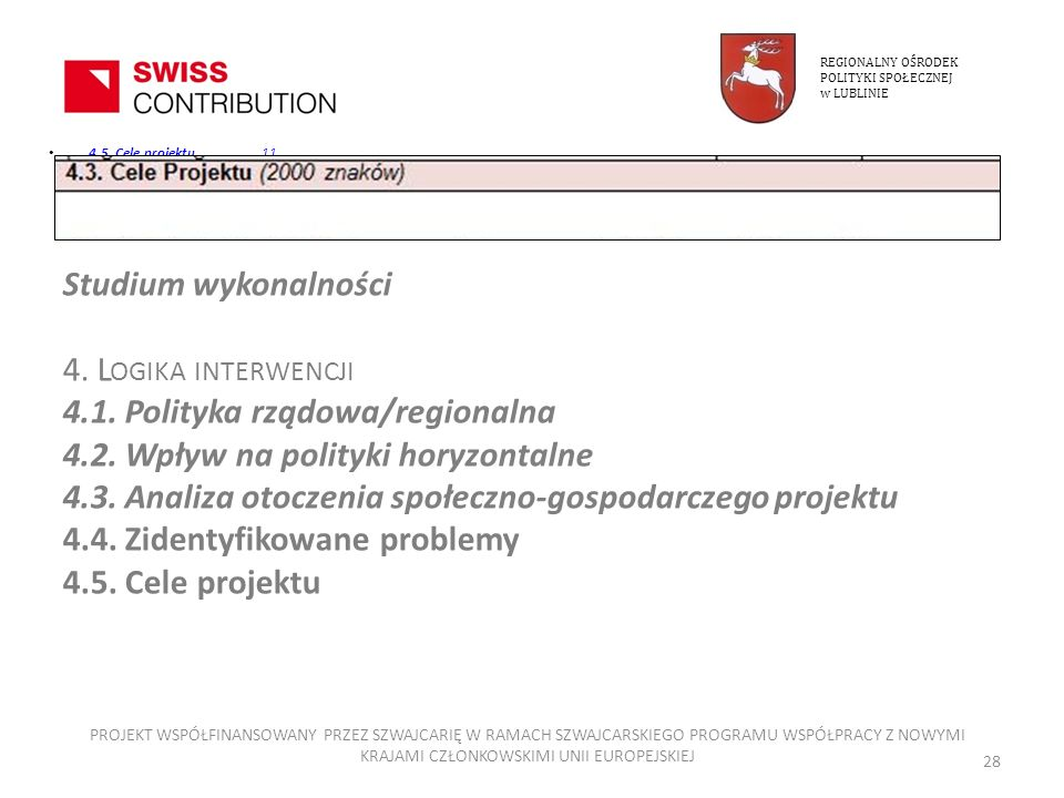 4.1. Polityka rządowa/regionalna 4.2. Wpływ na polityki horyzontalne