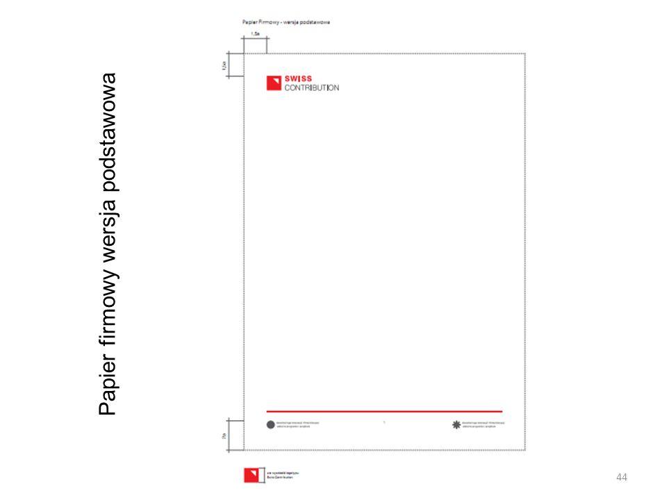 Papier firmowy wersja podstawowa