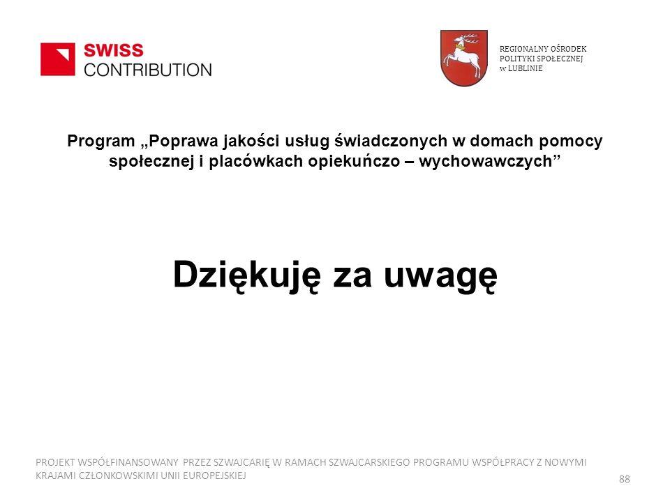 REGIONALNY OŚRODEKPOLITYKI SPOŁECZNEJ. w LUBLINIE.