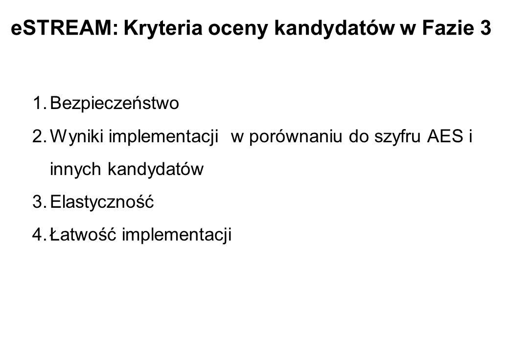 eSTREAM: Kryteria oceny kandydatów w Fazie 3