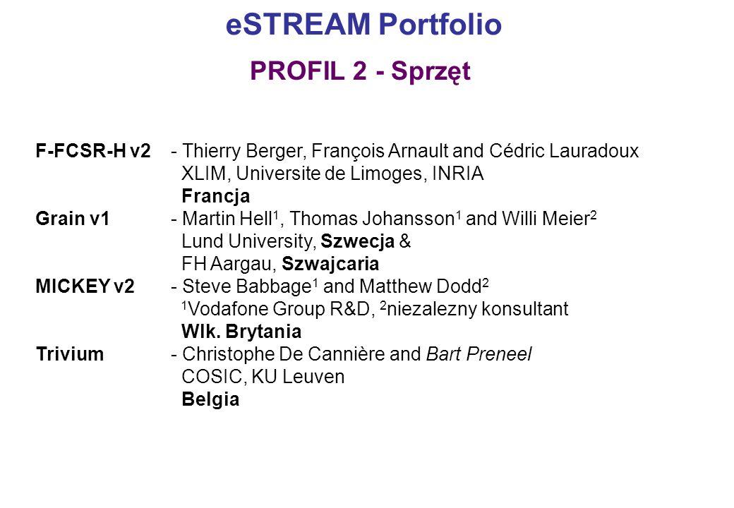 eSTREAM Portfolio PROFIL 2 - Sprzęt