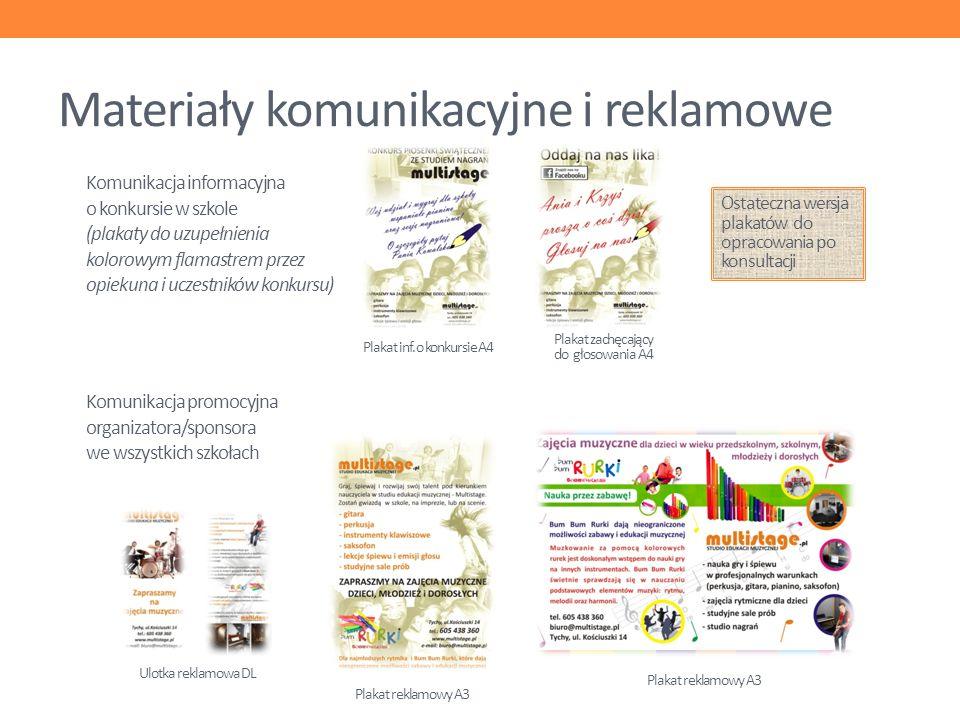 Materiały komunikacyjne i reklamowe