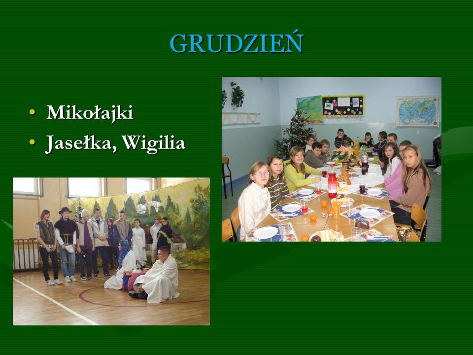 GRUDZIEŃ Mikołajki Jasełka, Wigilia