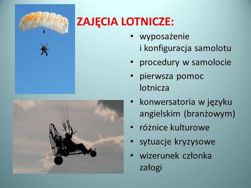 ZAJĘCIA LOTNICZE: wyposażenie i konfiguracja samolotu