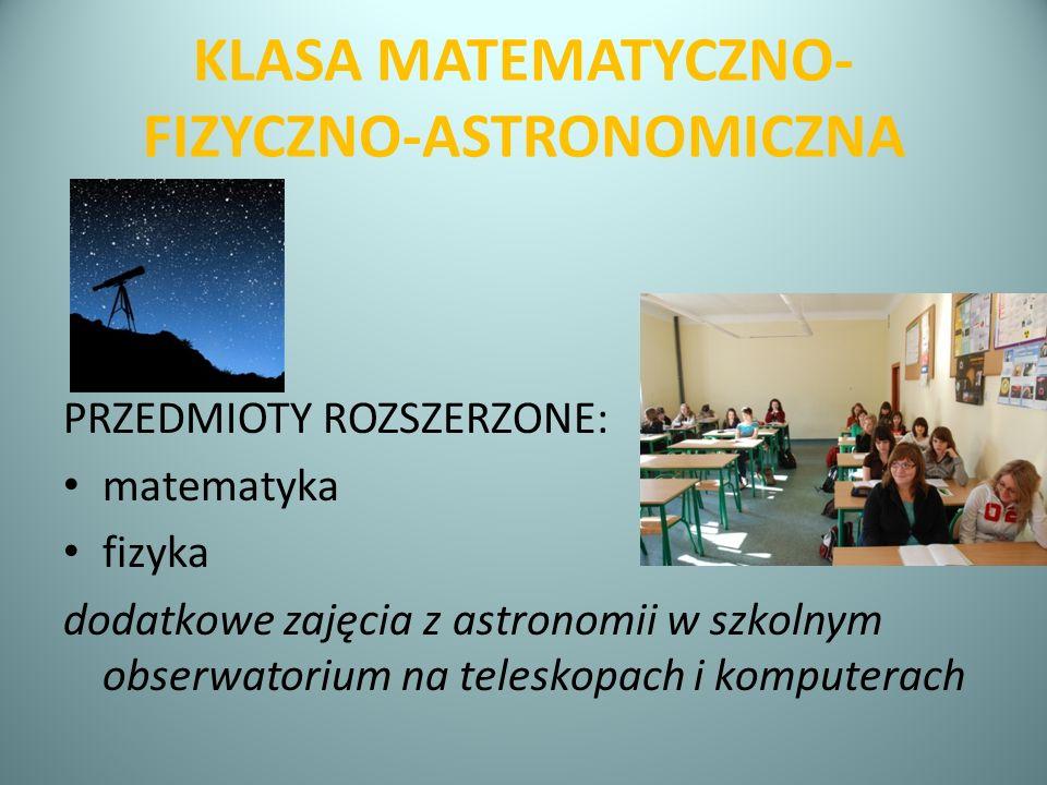 KLASA MATEMATYCZNO-FIZYCZNO-ASTRONOMICZNA