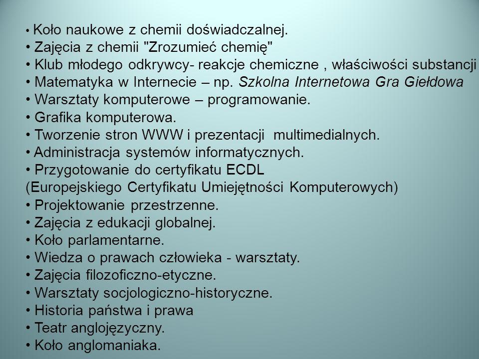 Zajęcia z chemii Zrozumieć chemię