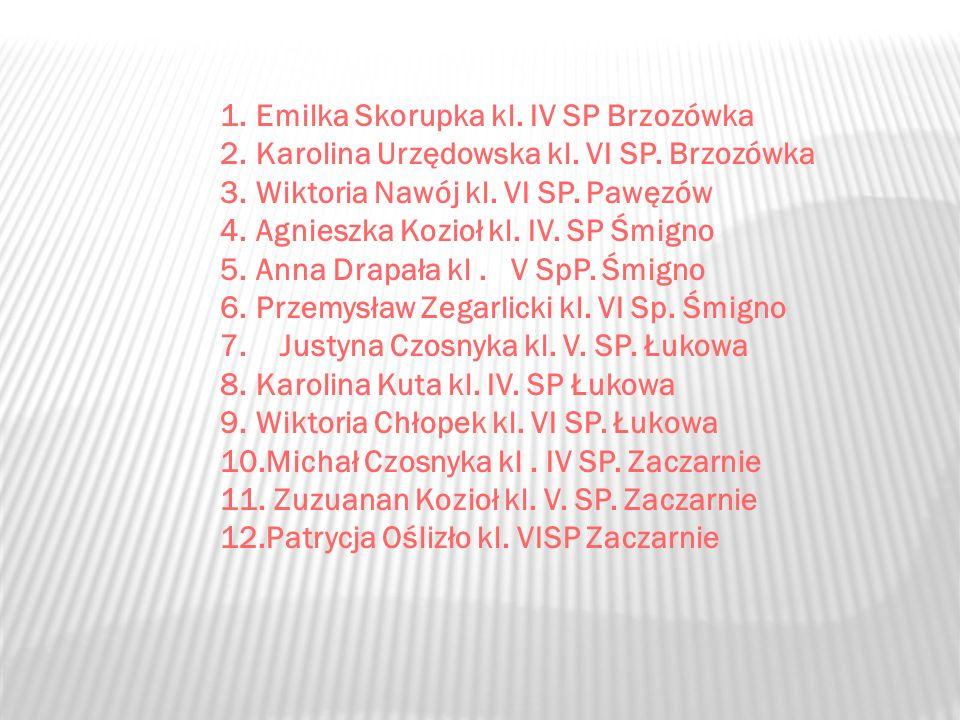 Emilka Skorupka kl. IV SP Brzozówka