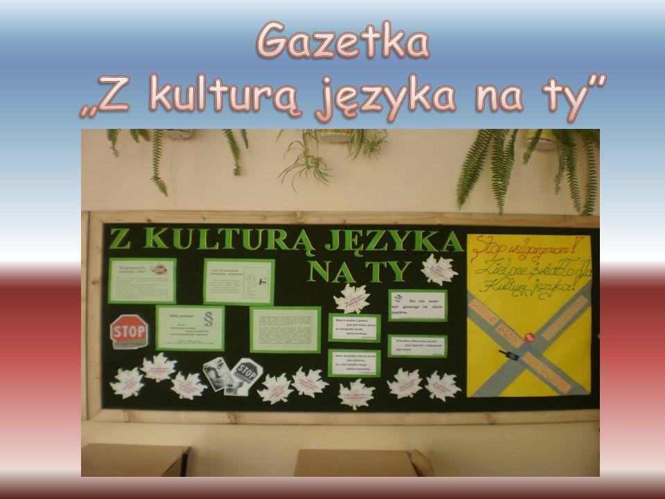 """Gazetka """"Z kulturą języka na ty"""