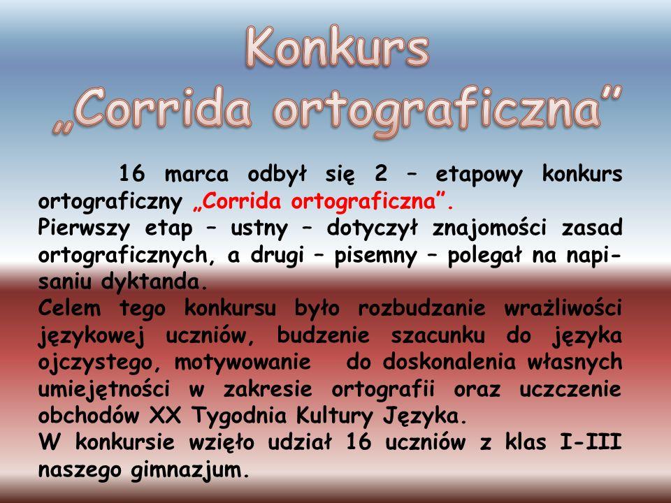 "Konkurs ""Corrida ortograficzna"