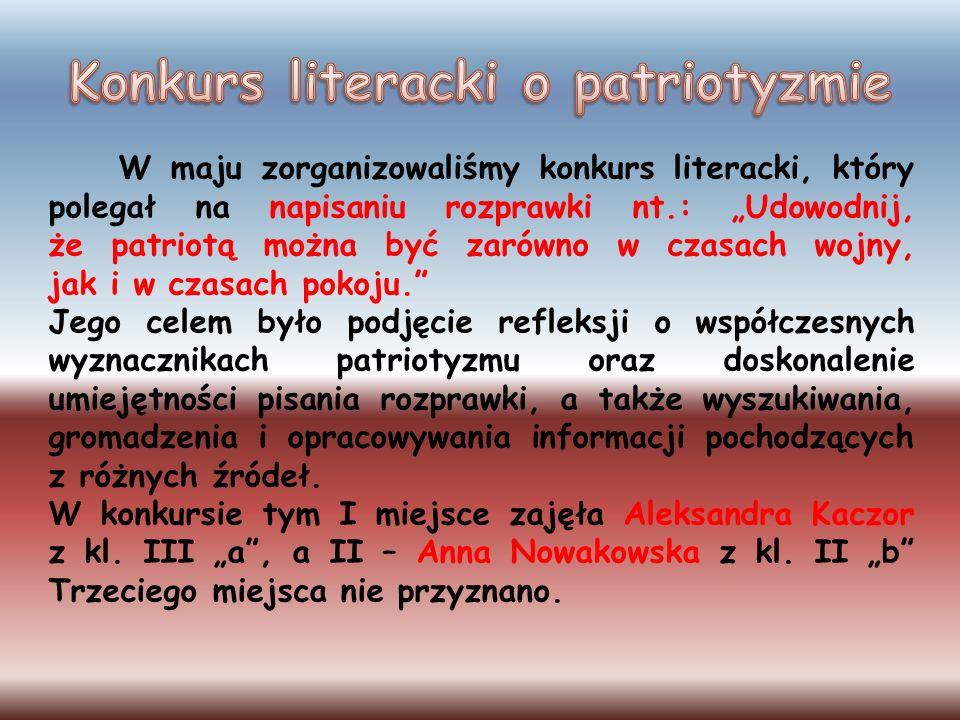 Konkurs literacki o patriotyzmie