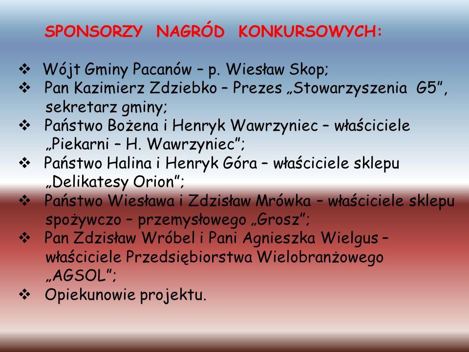 Wójt Gminy Pacanów – p. Wiesław Skop;