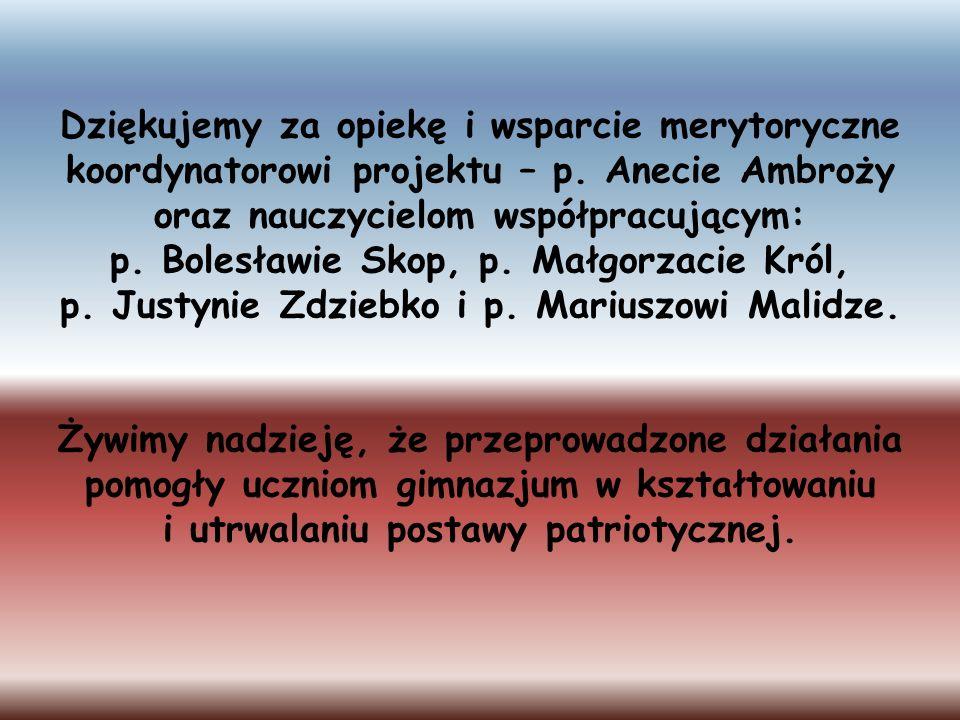 p. Bolesławie Skop, p. Małgorzacie Król,
