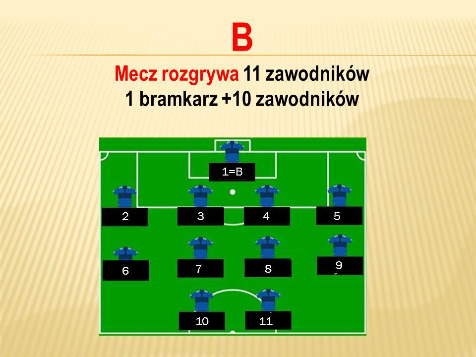 Mecz rozgrywa 11 zawodników