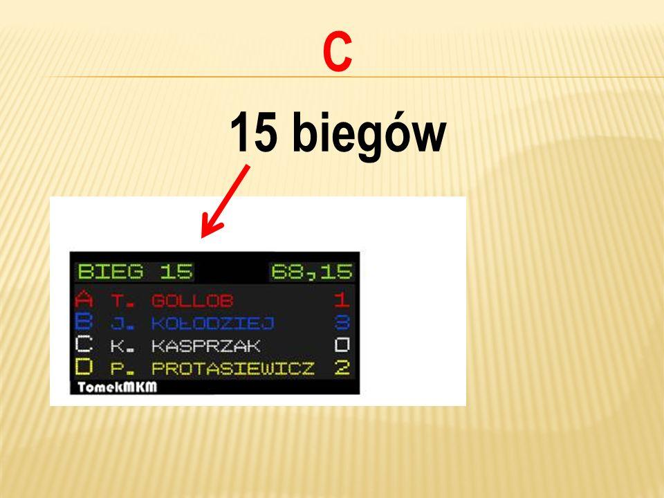 C 15 biegów