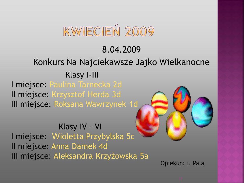 8.04.2009 Konkurs Na Najciekawsze Jajko Wielkanocne