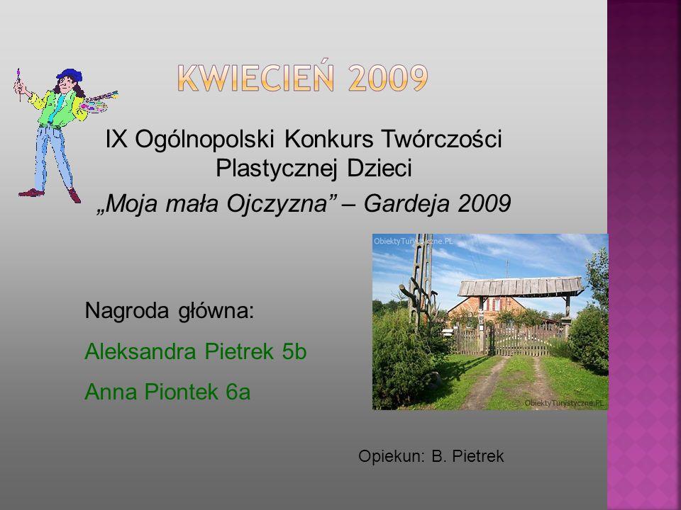 IX Ogólnopolski Konkurs Twórczości Plastycznej Dzieci