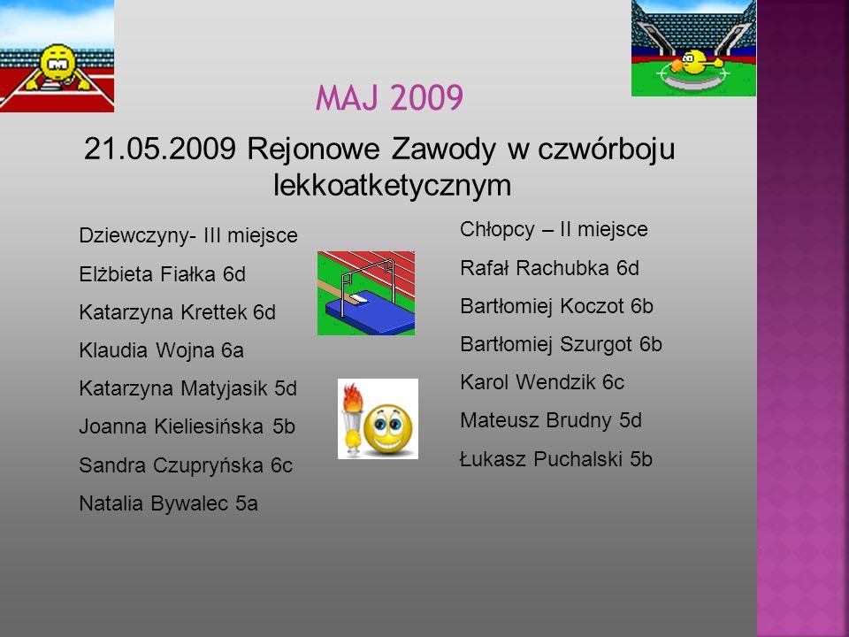 21.05.2009 Rejonowe Zawody w czwórboju lekkoatketycznym
