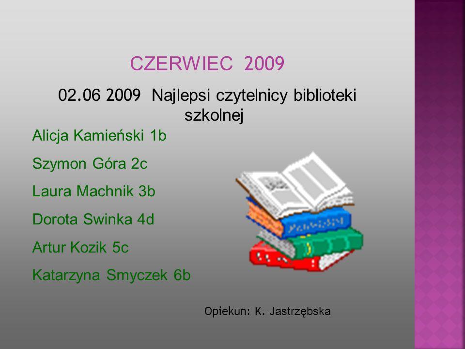 02.06 2009 Najlepsi czytelnicy biblioteki szkolnej