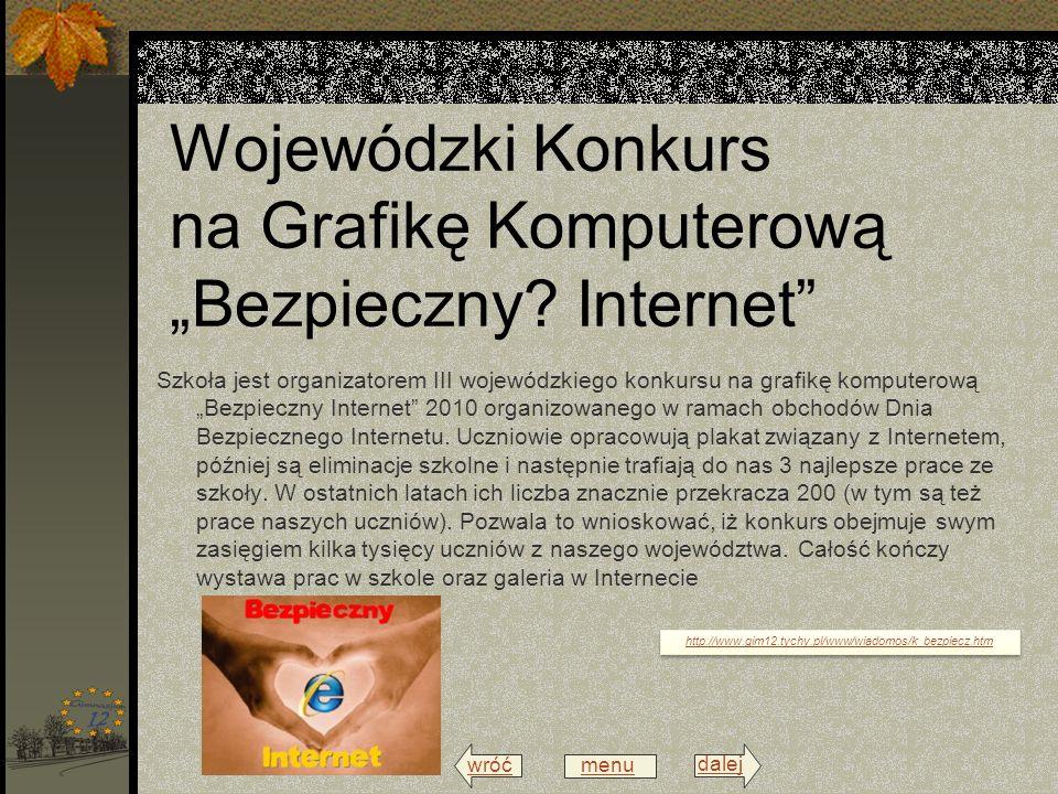 """Wojewódzki Konkurs na Grafikę Komputerową """"Bezpieczny Internet"""
