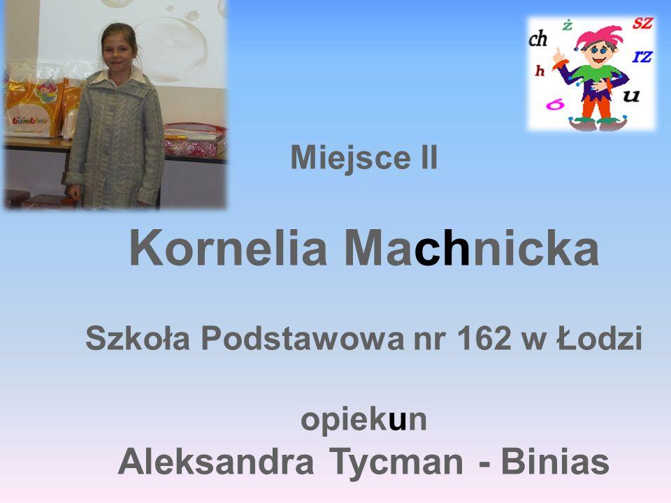Szkoła Podstawowa nr 162 w Łodzi Aleksandra Tycman - Binias