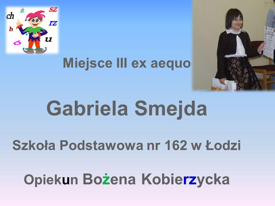 Szkoła Podstawowa nr 162 w Łodzi Opiekun Bożena Kobierzycka