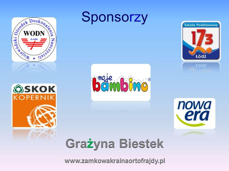 Sponsorzy Grażyna Biestek www.zamkowakrainaortofrajdy.pl