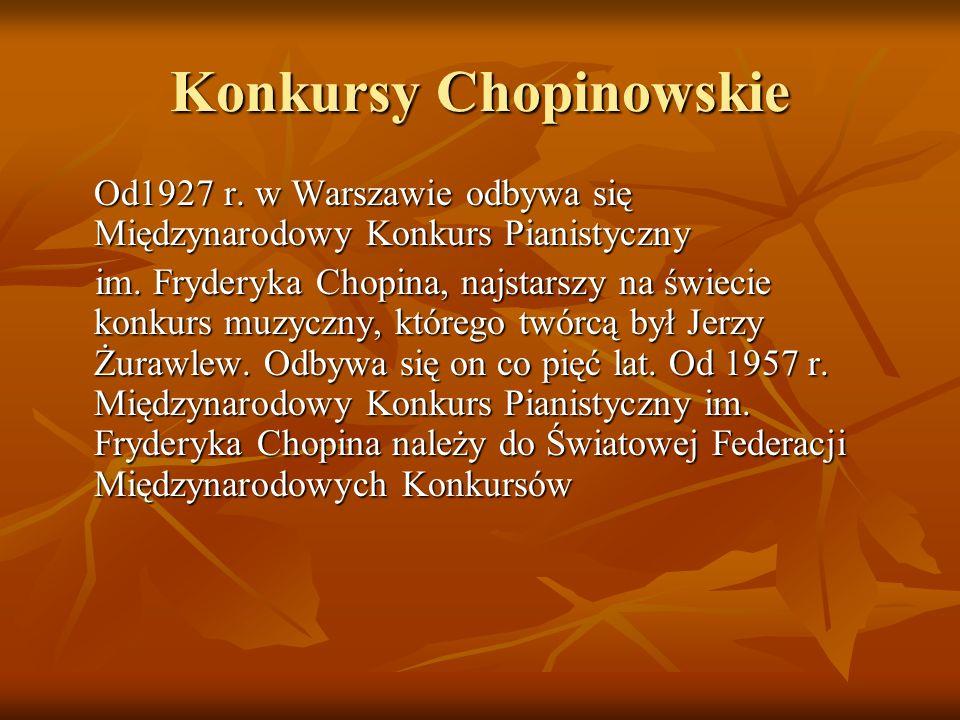 Konkursy Chopinowskie
