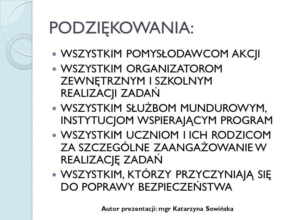 Autor prezentacji: mgr Katarzyna Sowińska