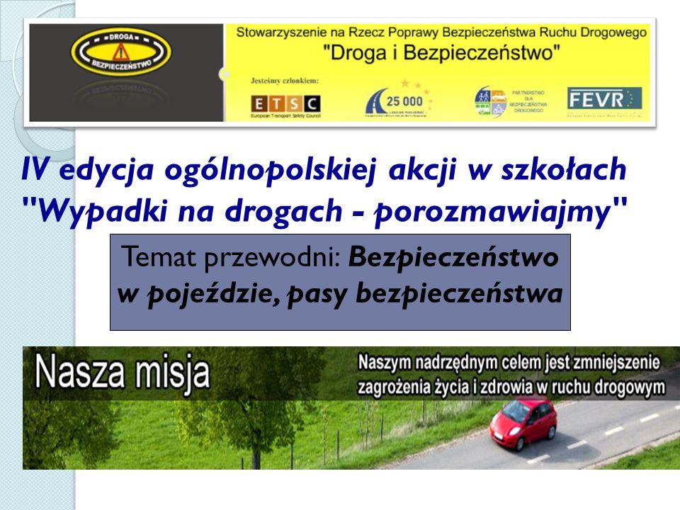 Temat przewodni: Bezpieczeństwo w pojeździe, pasy bezpieczeństwa