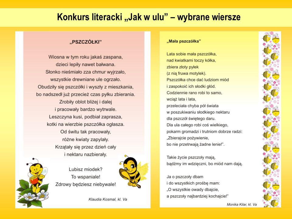 """Konkurs literacki """"Jak w ulu – wybrane wiersze"""