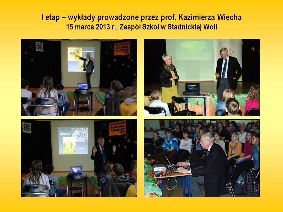 I etap – wykłady prowadzone przez prof