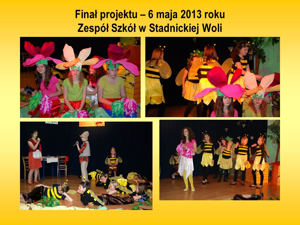 Finał projektu – 6 maja 2013 roku Zespół Szkół w Stadnickiej Woli