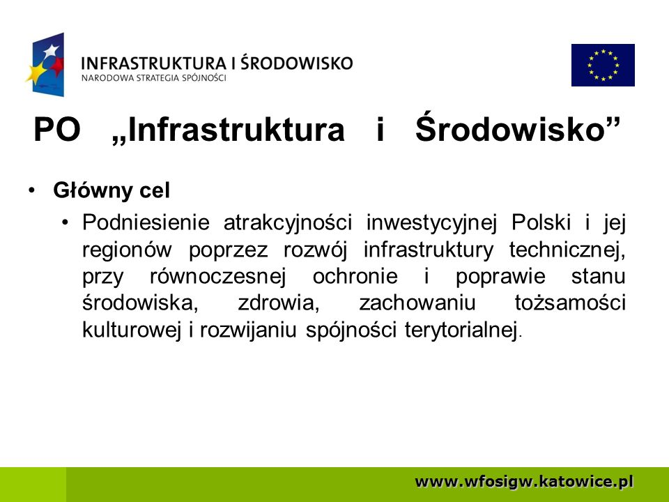 """PO """"Infrastruktura i Środowisko"""