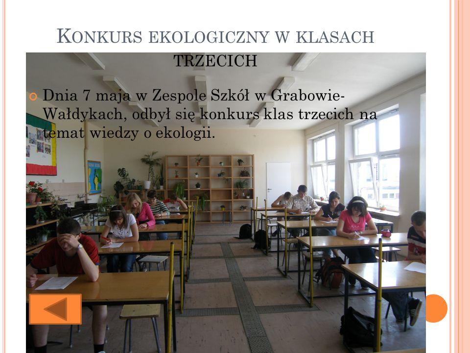 Konkurs ekologiczny w klasach trzecich