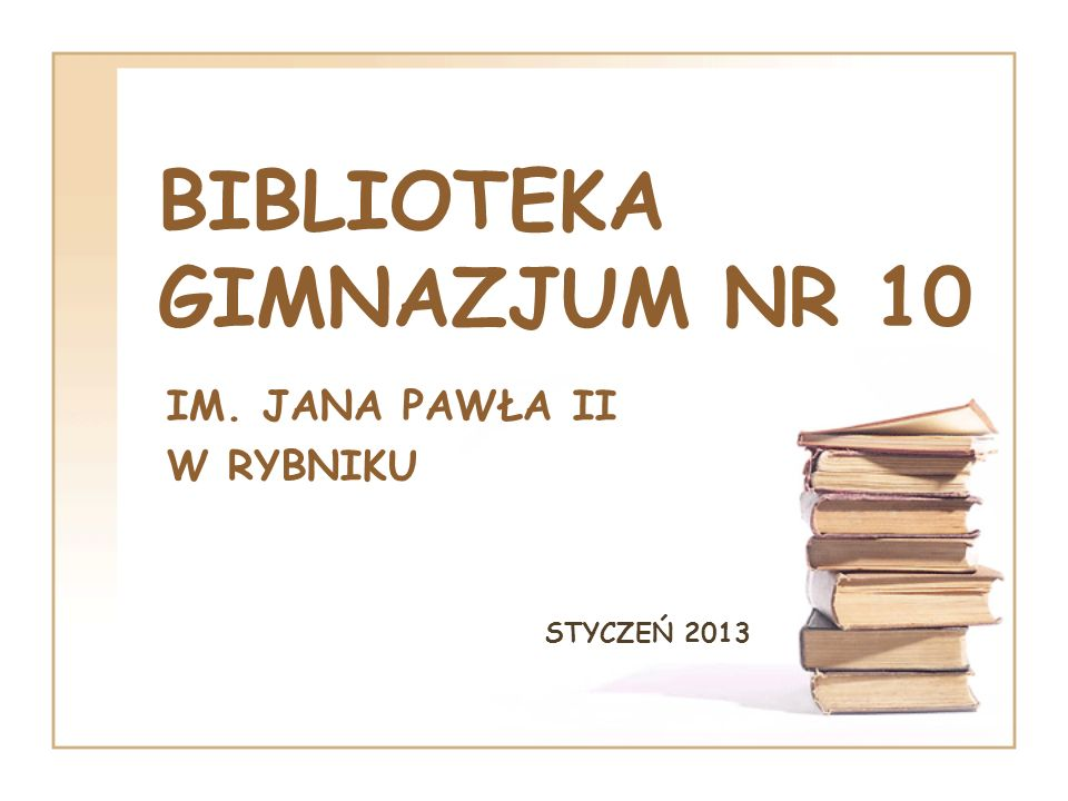 BIBLIOTEKA GIMNAZJUM NR 10