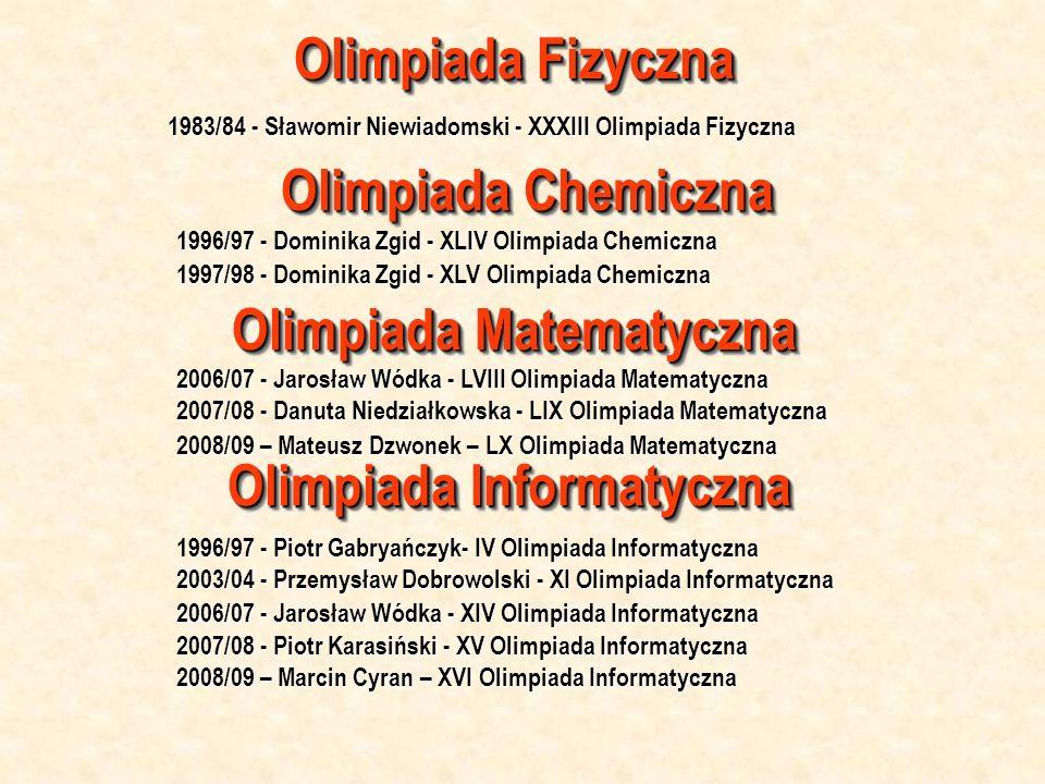 Olimpiada Matematyczna Olimpiada Informatyczna