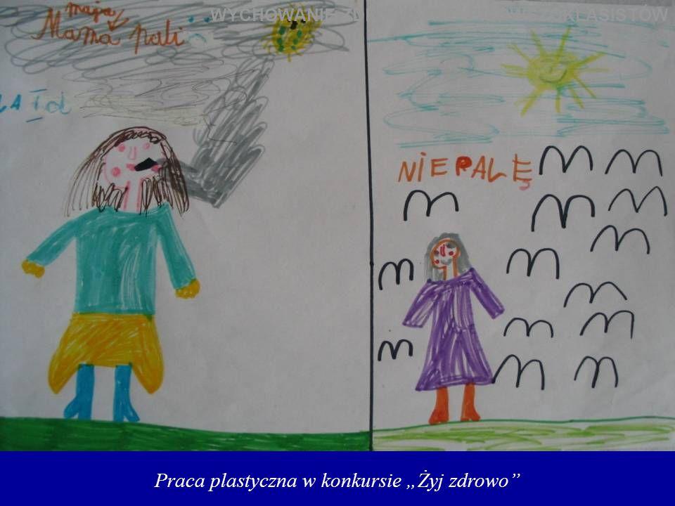 """Praca plastyczna w konkursie """"Żyj zdrowo"""