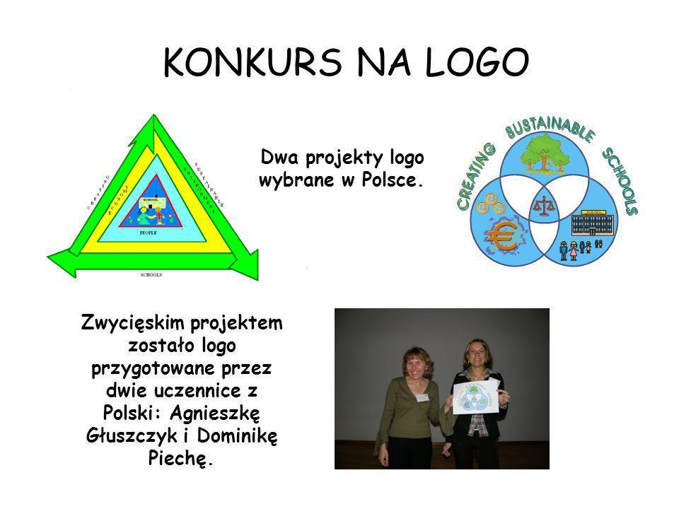Dwa projekty logo wybrane w Polsce.