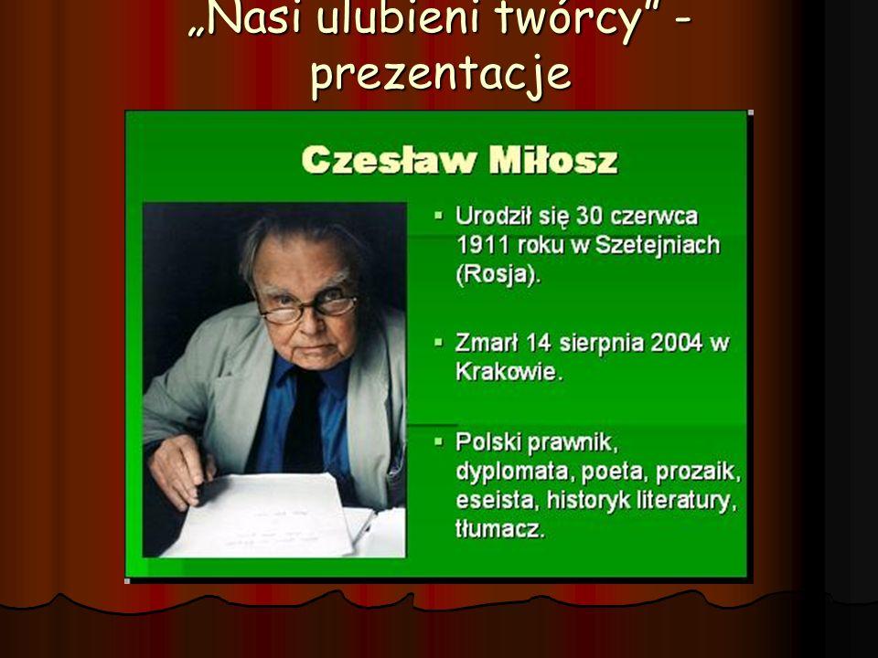 """""""Nasi ulubieni twórcy - prezentacje"""