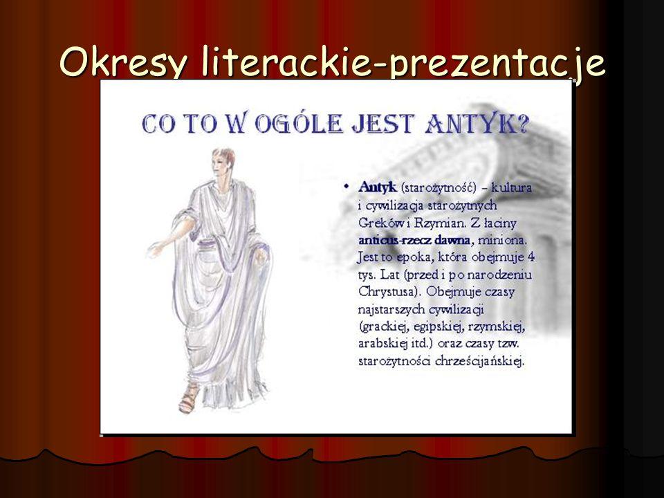 Okresy literackie-prezentacje