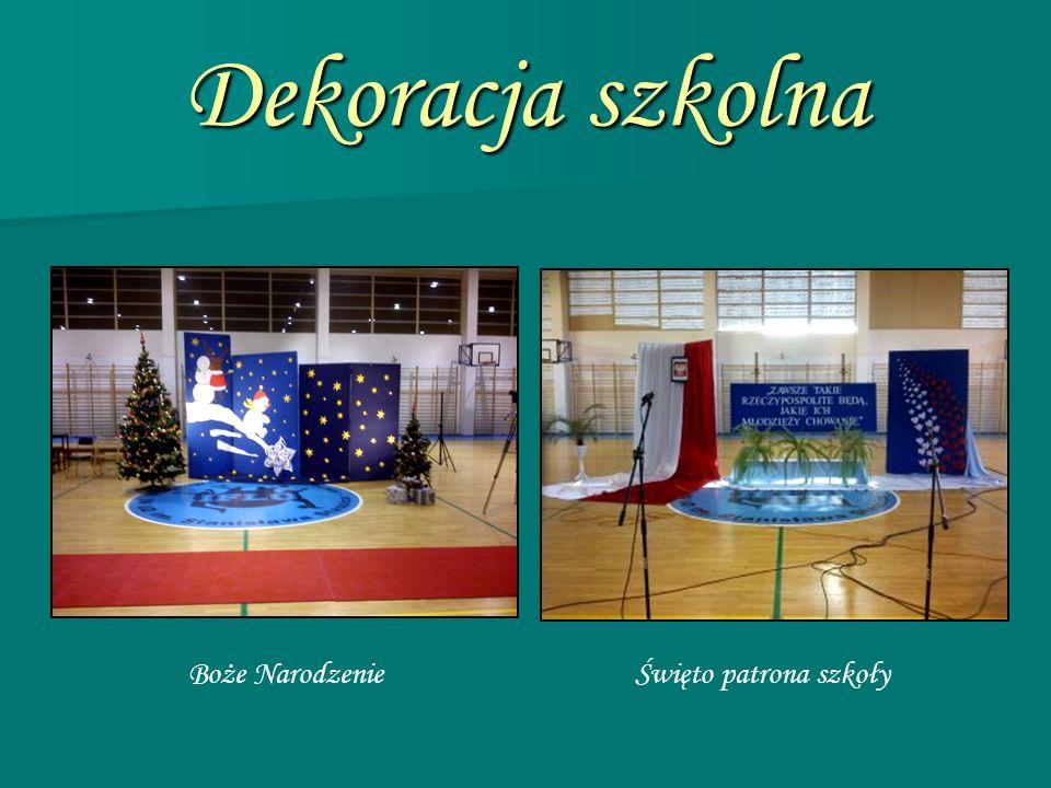 Dekoracja szkolna Boże Narodzenie Święto patrona szkoły