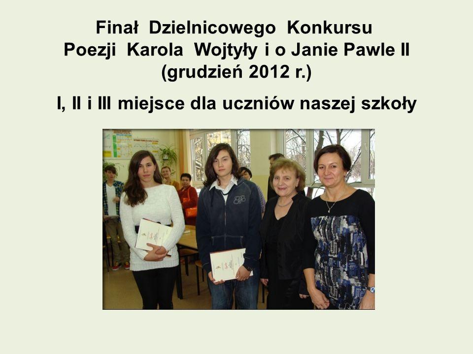 Finał Dzielnicowego Konkursu Poezji Karola Wojtyły i o Janie Pawle II