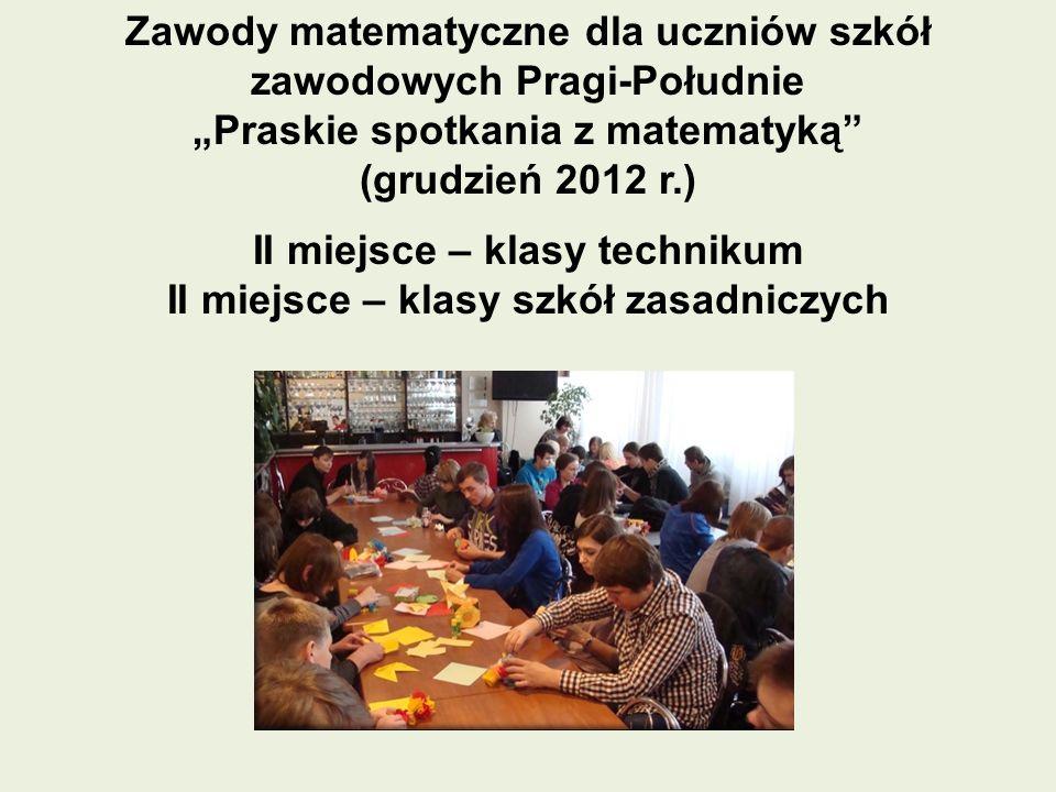 Zawody matematyczne dla uczniów szkół zawodowych Pragi-Południe